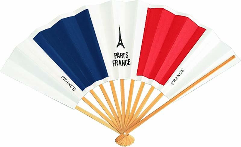 国旗扇子 フランス