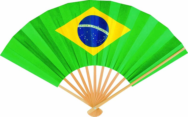 国旗扇子 ブラジル