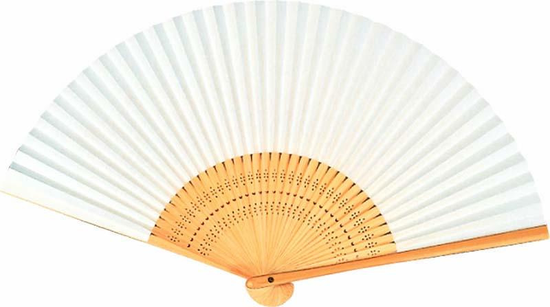 慶弔白扇子 高級白扇(6.5寸)
